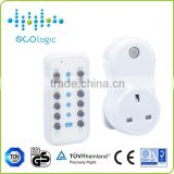 Professional digital wireless remote control switch socket plug