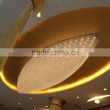 big modern wall ceiling crystal light for restaurant