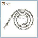 Coil tube heating element for fan heater