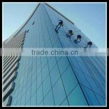 Unitized frameless glass curtain wall
