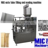 MICmachinery MIC-R60 with all-life after-sale serivce tube filling sealing machine for face cream with swiss heating gun sealing