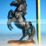 Polyresin horse figurine single on base