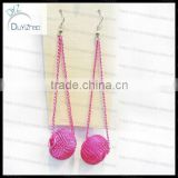 Hot sell!Wholesale basketball wives ball chain earrings