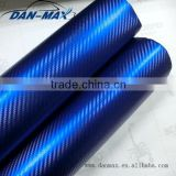 High stretchable PVC self-adhesive Chrome pearl 3D car vinyl custom made carbon fiber parts