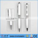 2016 aluminum barrel silver color metal pen with stylus top                                                                                                         Supplier's Choice