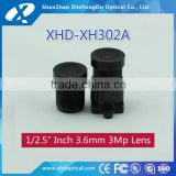 "3.6mm F1.6 1/2.5"" for CCD camera/cmos camera/IP camera manual focus and Iris machine vision lens"