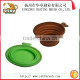 Colourful healthy silicone ring rubber dog bowl