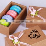 macaron box kraft paper Hot sale cheap cake boxes,customized design paper gift box MACARON BOX
