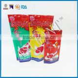 2015 new product fish food packaging plasticstand up pouch bag/Asuwant fish food packaging material