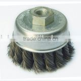 cup wire brush twisted threaded nut type