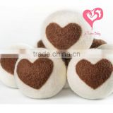 100% Premium Organic Felt Wool Dryer Balls - SOLID - No Fillers like Naturally Soften Laundry ~ Eliminate Static