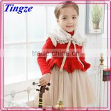 2015 Latest fashion winter baby children party dress designs for 3-5 year old girl dress