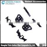3K CNC cutting carbon fiber helmet accessory