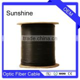 Aerial 4/6/8/12 Core Fiber Singlemode Flat Drop Cable / Optical Fiber Cable With Large Span                                                                         Quality Choice