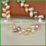 Chinese drops mix colour natural cultured freshwater pearl modern pearl necklaces for brides