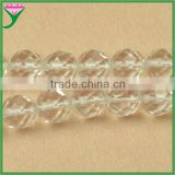 high quality 3mm 6mm 10mm 12mm 14mm 16mm semi precious stone transparent natural clea rock crystal quartz faceted beads
