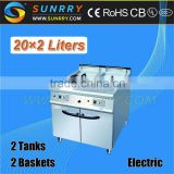 Commercial electric home fat fryers with fry pan deep 40 liters (SY-GF700A SUNRRY)