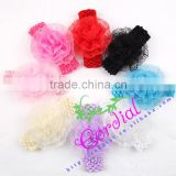 Cheap Wholesale Free Sample Fashionable Kids Jewelry Color Headband Flower Headwear