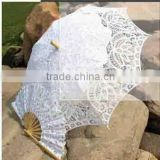 wholesale wedding parasol Antique battenburg lace wedding parasol and fan set parasol and new pattern Valentine Gift Umbrella