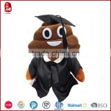 China customize plush poop graduation doll plush emoji pillow coin purse slipper stuffed toys 2015 new designed