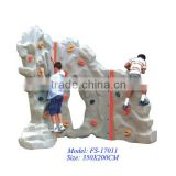 Plastic or marmoreal outdoor used rock climbing wall