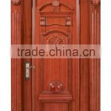 Hand carved solid wood doors with models YHB-1202