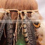 Tribe Feather Beads Headbands Headdress Carnival Headpieces Waistband Hairband
