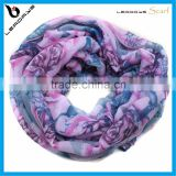 rose flower printing on sale snood scarf