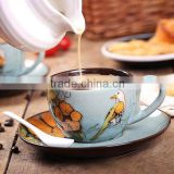 Wholesale drinkware colorful antique ceramic coffee cup