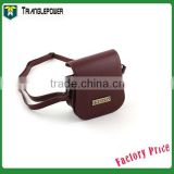 Polaroid Mini 25 Instant Camera Cases Leather Brown Accessory Compact Protective, Fuji Camera Bag With Strap