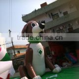 customized inflatable giant dog/ pvc inflatable advertising dog model/ inflatable cartoon dog balloon