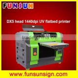 dx5 head 8 colors A3 A4 size flatbed printing FS-5528 uv led printer with dx5 head 1440dpi