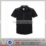 Hot Sell Slim Fit Korean Men Dress Shirt Black Color