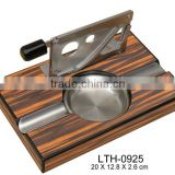 Premium cigar ashtray with custom logo with cutter
