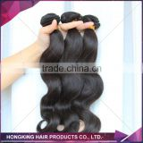 tangle free 100% cheap virgin brazilian body wave hair extension
