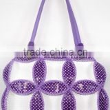 alibaba china handmade shoulder bag for women leaf design bright color contrast very cheap price