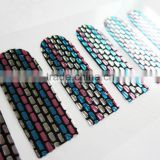 Wholesale 2D colorful foil nail art sticker with rhinestone waterproof nail wraps china factory