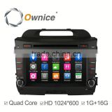 Ownice Android 4.4 touch screen Stereo GPS navigation for Kia Sportage R with wifi bluetooth phonebook IPOD