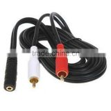 Choseal Q-374 3.5mm jack to AV RCA for Ipod MP3 1.5m/1.8m/3m/5m/10m/15m Audio Adapter Cable