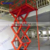 Hydraulic scissor cargo lift with free parts