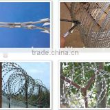 crossed razor barbed wire, Single Coil Razor Wire, Razor Flat Fence, Welded Razor Wire Mesh window Fence