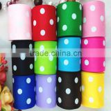 "Wholesale 38mm 1.5"" inch Customize Polka Dots Christmas Grosgrain Ribbon For DIY Handmade Satin Ribbon Flower Hair Bow Material"