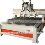 China wood cnc engraving machine for relief with 1.5KW spindle and ball screw for three axis and mass production