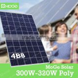 Moge the best price poly and mono 100w 150w 200w 250w 300w solar panel in stock shipping within 3 days
