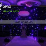 Black or white fireproof Velvet cloth led star backdrop club dmx stage lighting