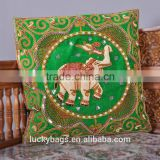 lastest High quality 100% cotton handmade design Thai style pillow case Cushion Covers Pillow Case Elephants