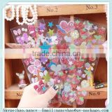 glitter sticker sheet ,glitter vinyl sticker