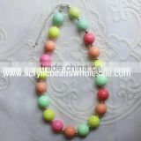 wholesale colorful beads nacklace, baby girls posh chunky beads necklace,bead necklace for little girl JB017