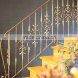 Iron interior cheap prefab wrought iron stair railing