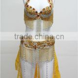 DS-002 new design sexy carnival party beaded dance costume, dance performance bra
